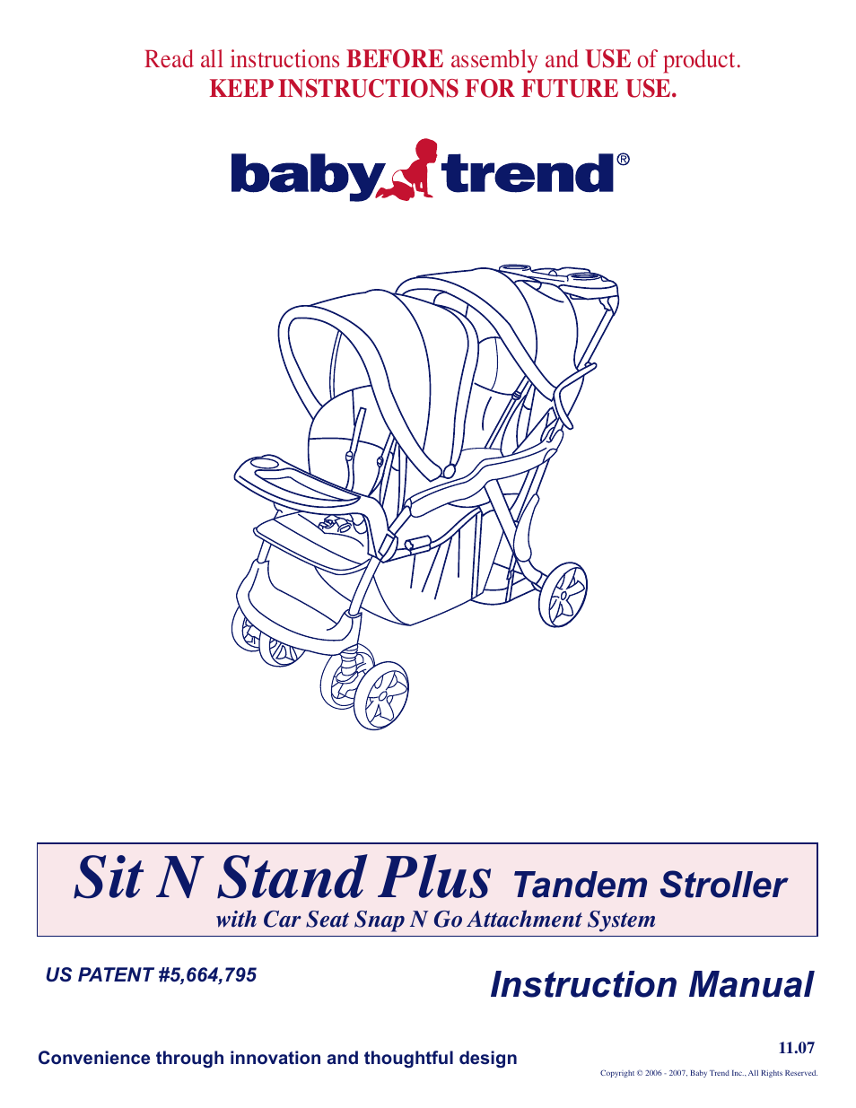 baby trend sit n stand plus 11 07 user manual 9 pages also for rh manualsdir com baby trend playard instruction manual baby trend expedition manual instructions