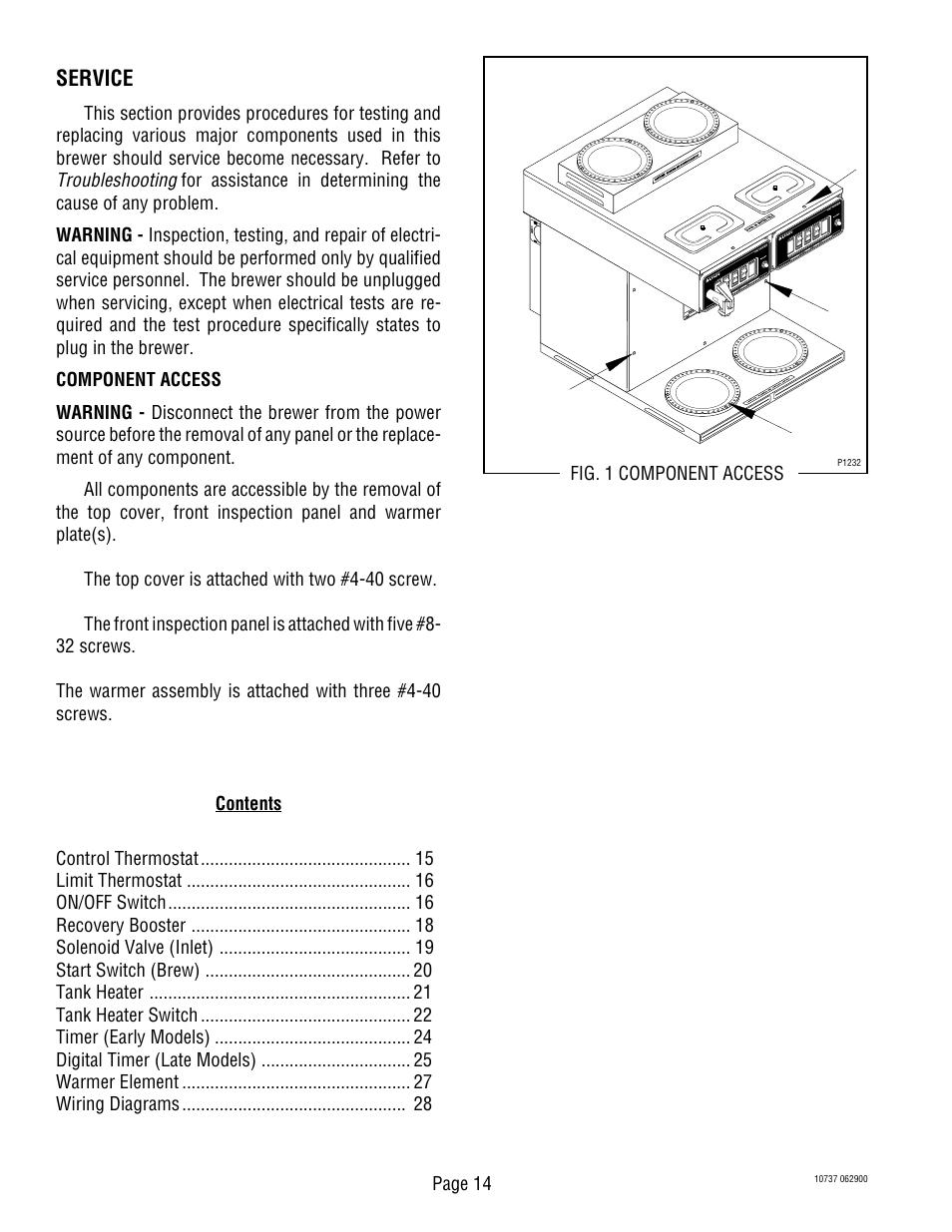 Service | Bunn C TWIN-APS User Manual | Page 14 / 34 on switch wiring diagram, motor wiring diagram, contactor wiring diagram, tachometer wiring diagram, i/o module wiring diagram, remote control wiring diagram, ac drive wiring diagram, software wiring diagram, controller wiring diagram, refrigerator wiring diagram, hour meter wiring diagram, power wiring diagram, thermocouple wiring diagram, battery charger wiring diagram, plc wiring diagram, sensor wiring diagram, heater wiring diagram, toaster oven wiring diagram, control panel wiring diagram, heating element wiring diagram,