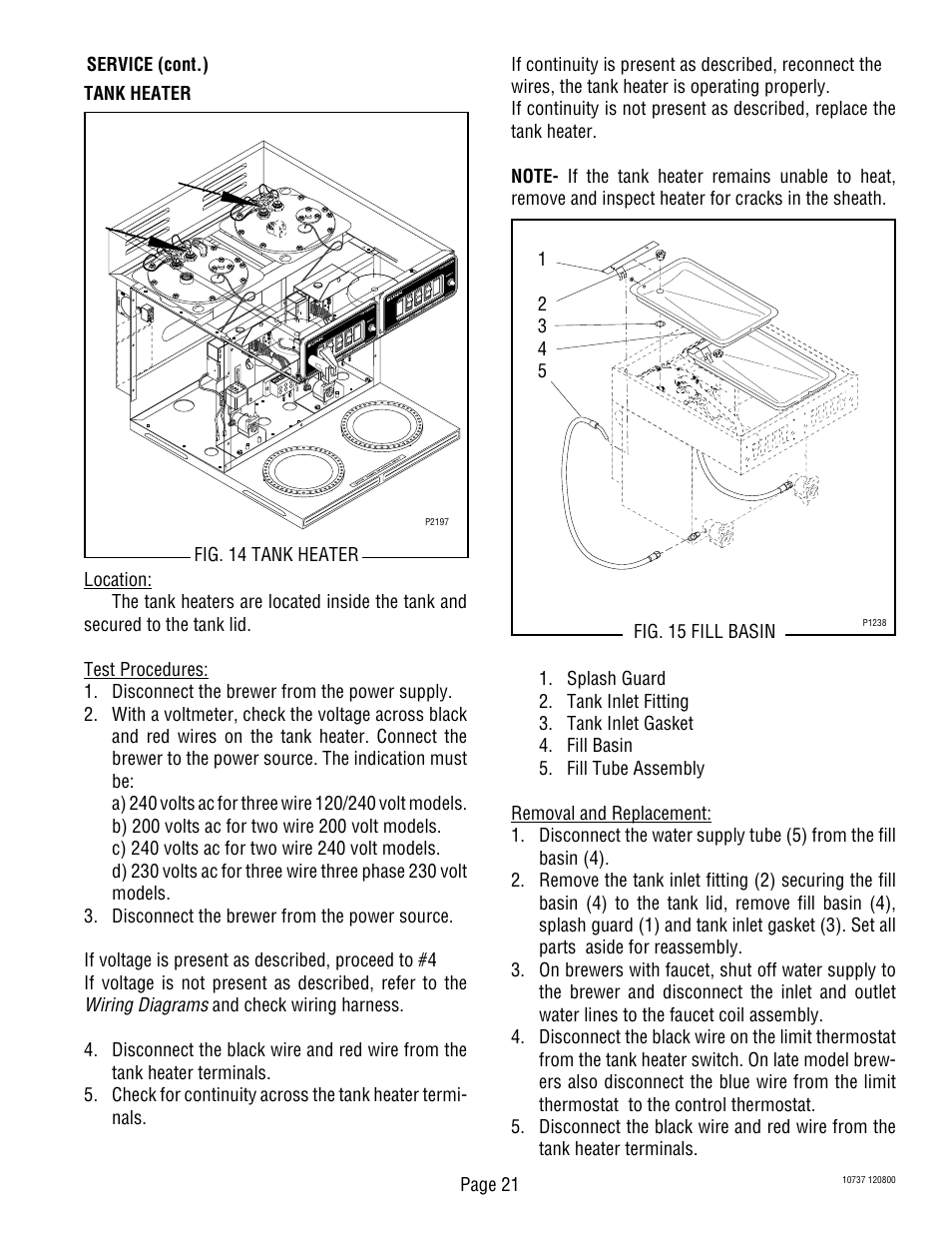 Bunn Cw Series Wire Diagram Explained Wiring Diagrams Hs22 Balboa Circuit Board Cwtf Twin Aps User Manual Page 21 34