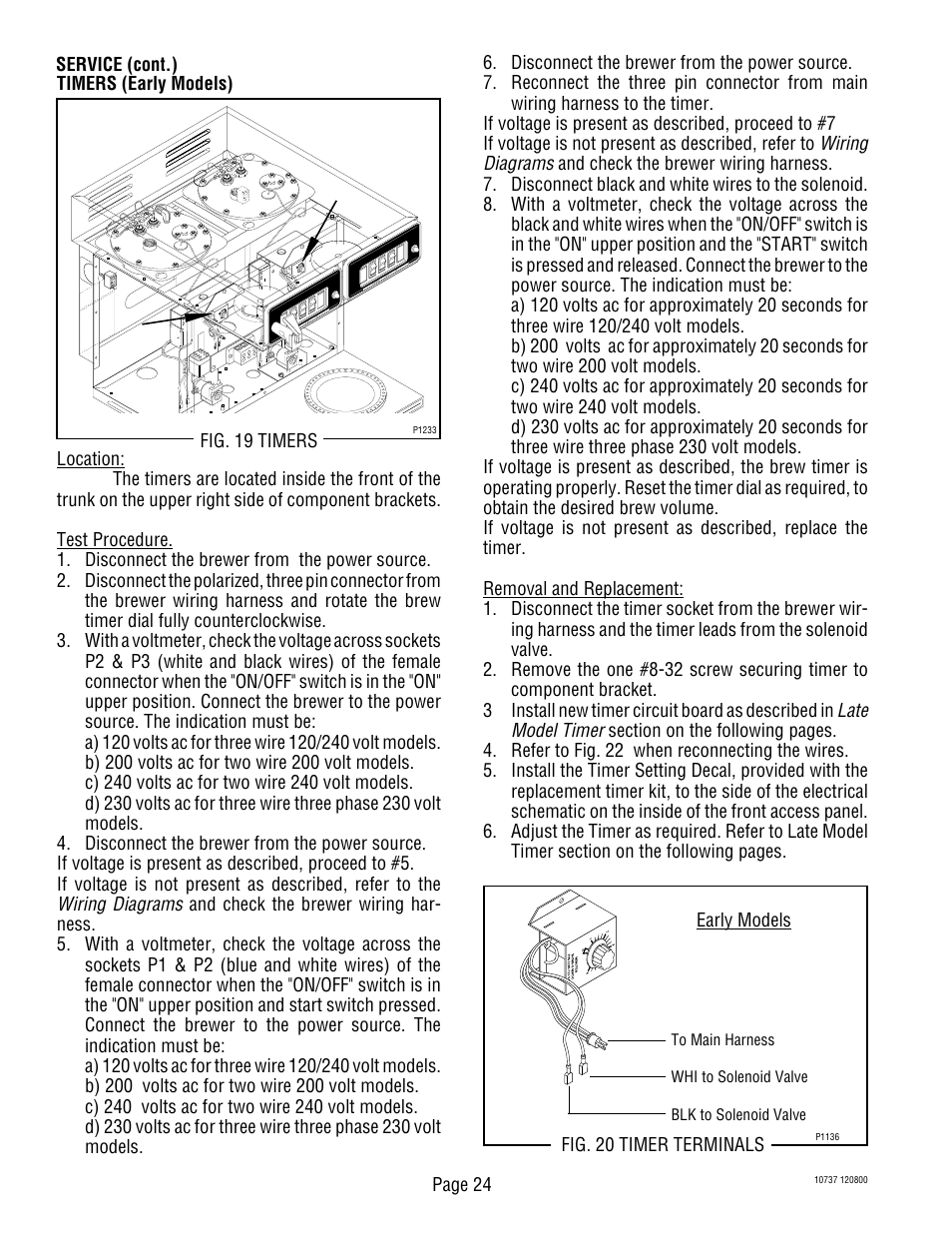 Bunn Cw Wiring Diagram Guide And Troubleshooting Of Twin Switch Diagrams Late Model Timer Page 24 Cwtf Aps User Rh Manualsdir Com Automotive 3 Way