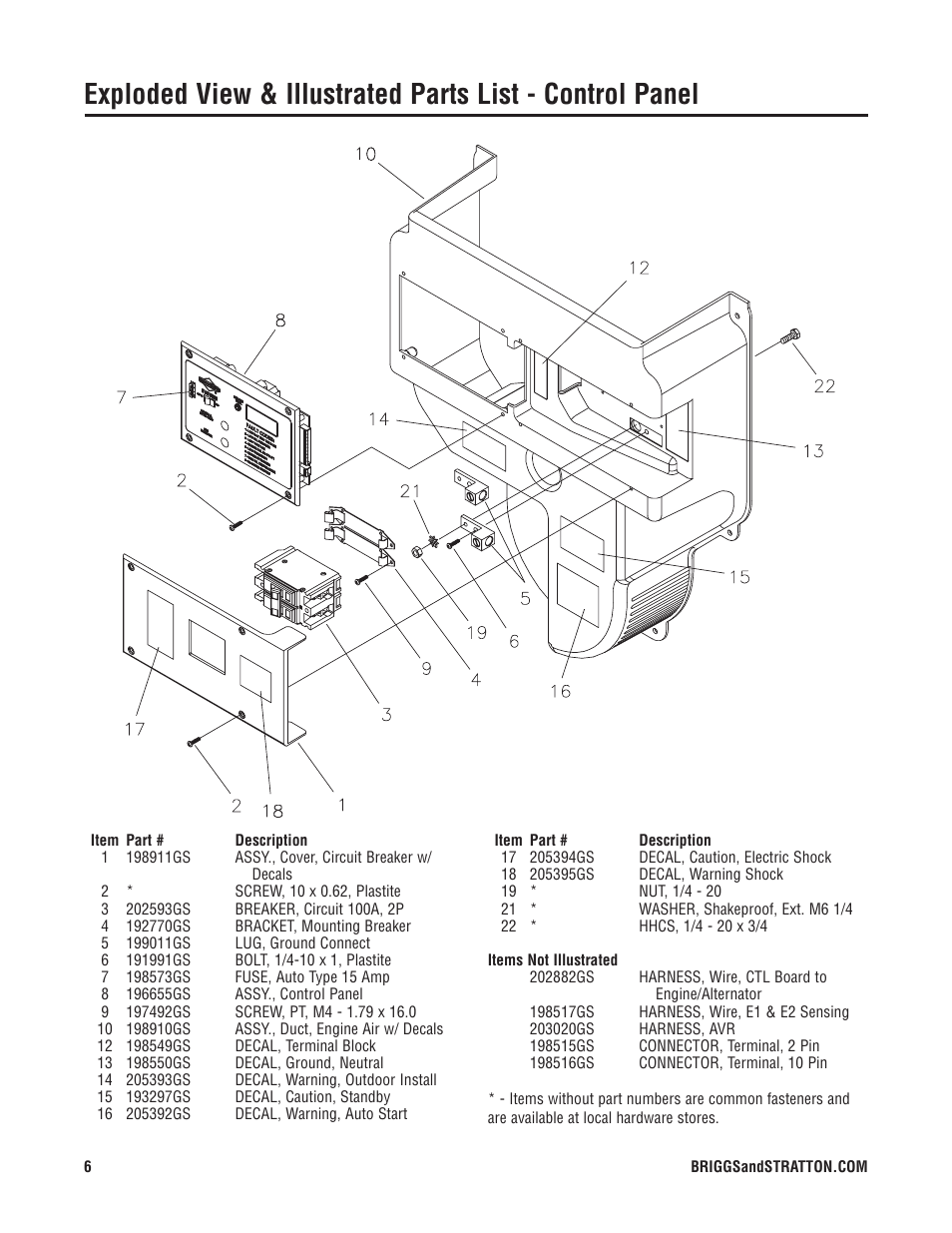 Briggs Stratton 40226 User Manual Page 6 7 10 0 Motor Wiring Diagram