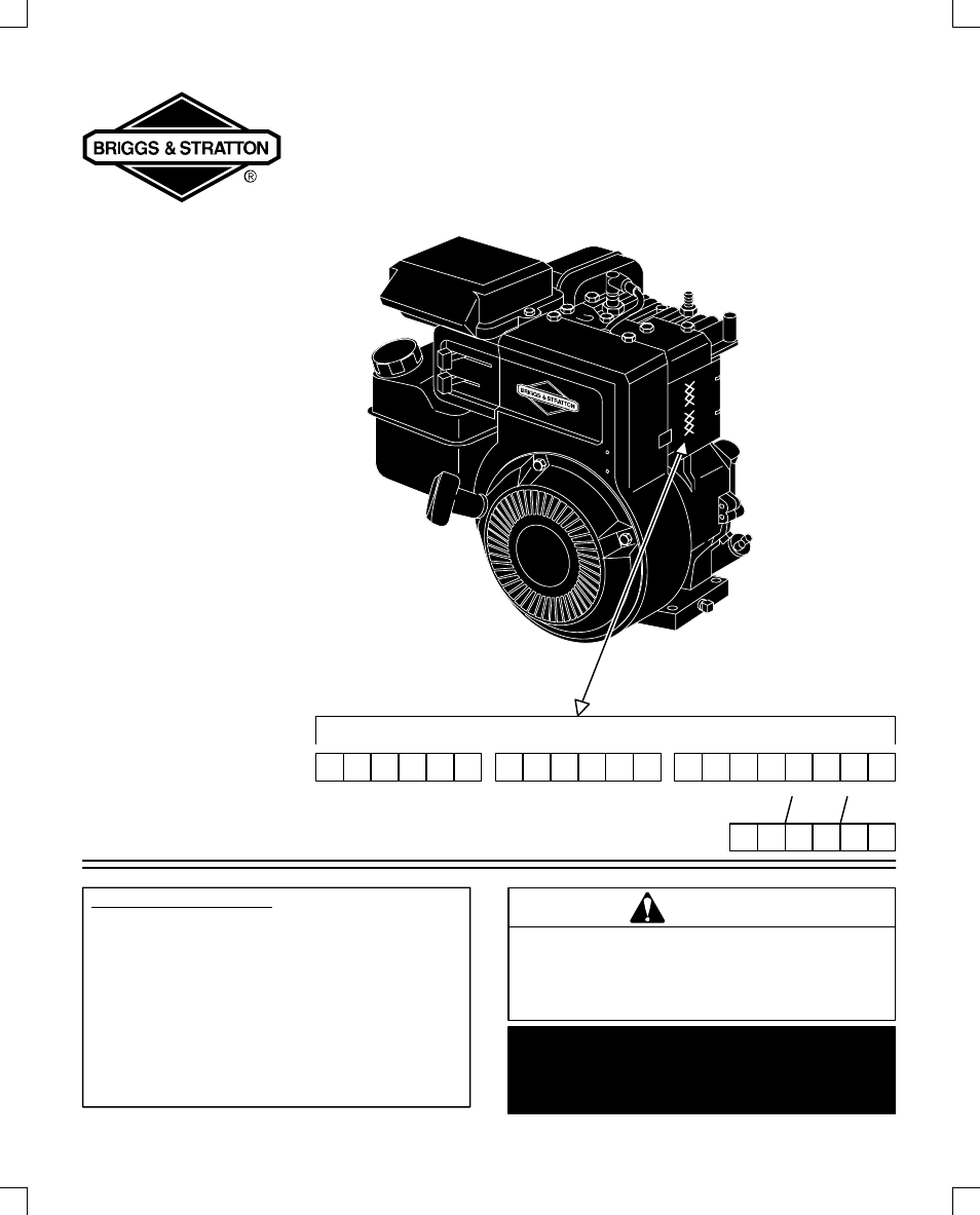 Briggs 134200 Service Manual And Stratton 17 5 Hp Engine Diagram 135200 User 20 Pages Also For Rh Manualsdir Com Pdf 5hp