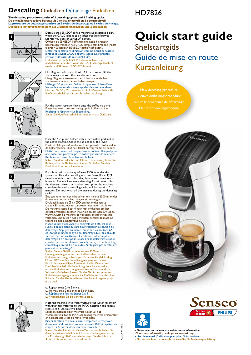 philips senseo kaffeepadmaschine user manual 2 pages original mode rh manualsdir com Owner's Manual senseo user manual pdf