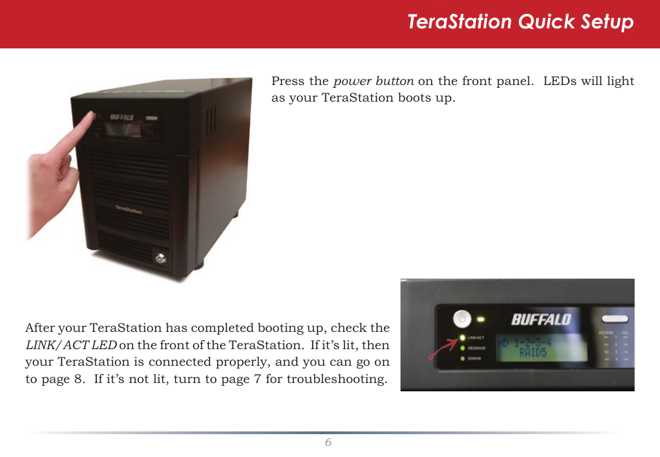 Terastation quick setup | Buffalo Technology TeraStation Pro