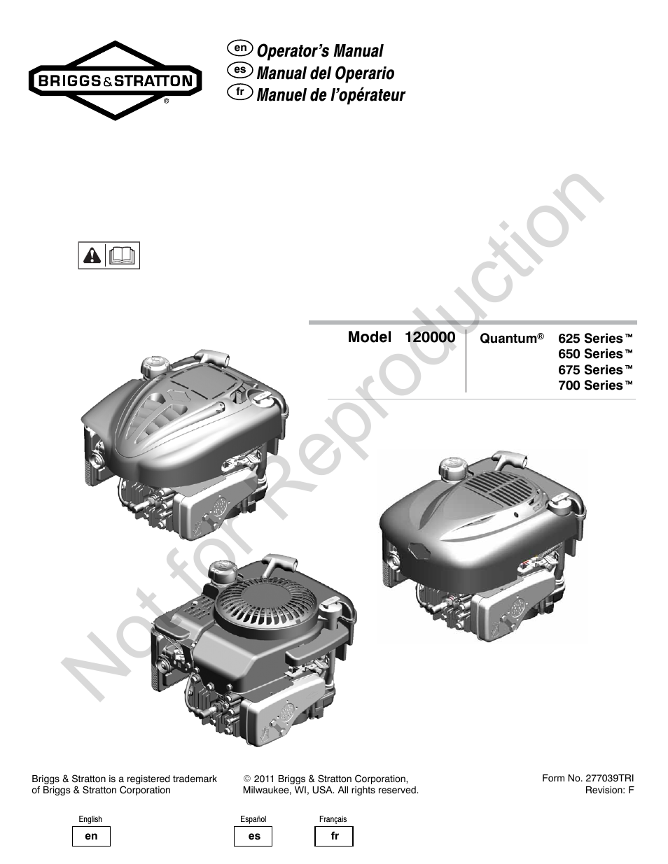 briggs  u0026 stratton quantum 120000 user manual