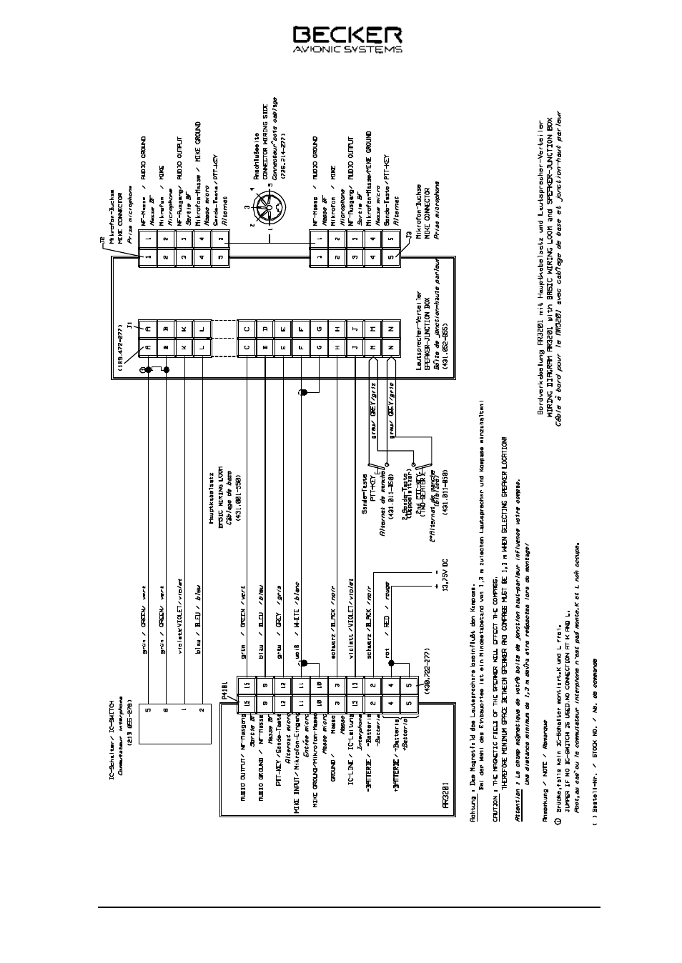 becker designed ar 3201 user manual page 21 30 rh manualsdir com becker 1432 wiring diagram becker grand prix wiring diagram