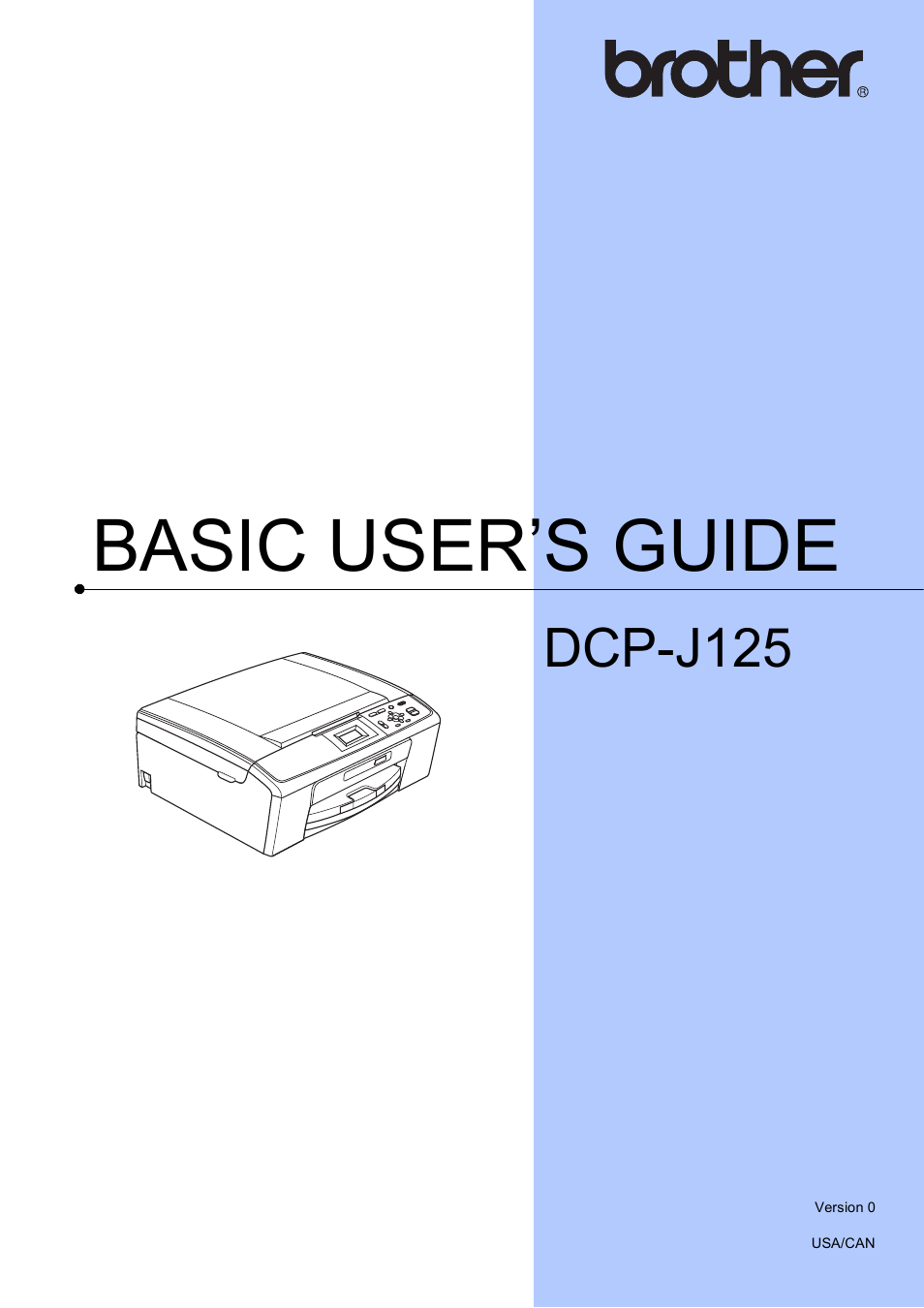 brother dcp j125 user manual 83 pages rh manualsdir com brother dcp j125 service manual brother dcp-j125 printer manual