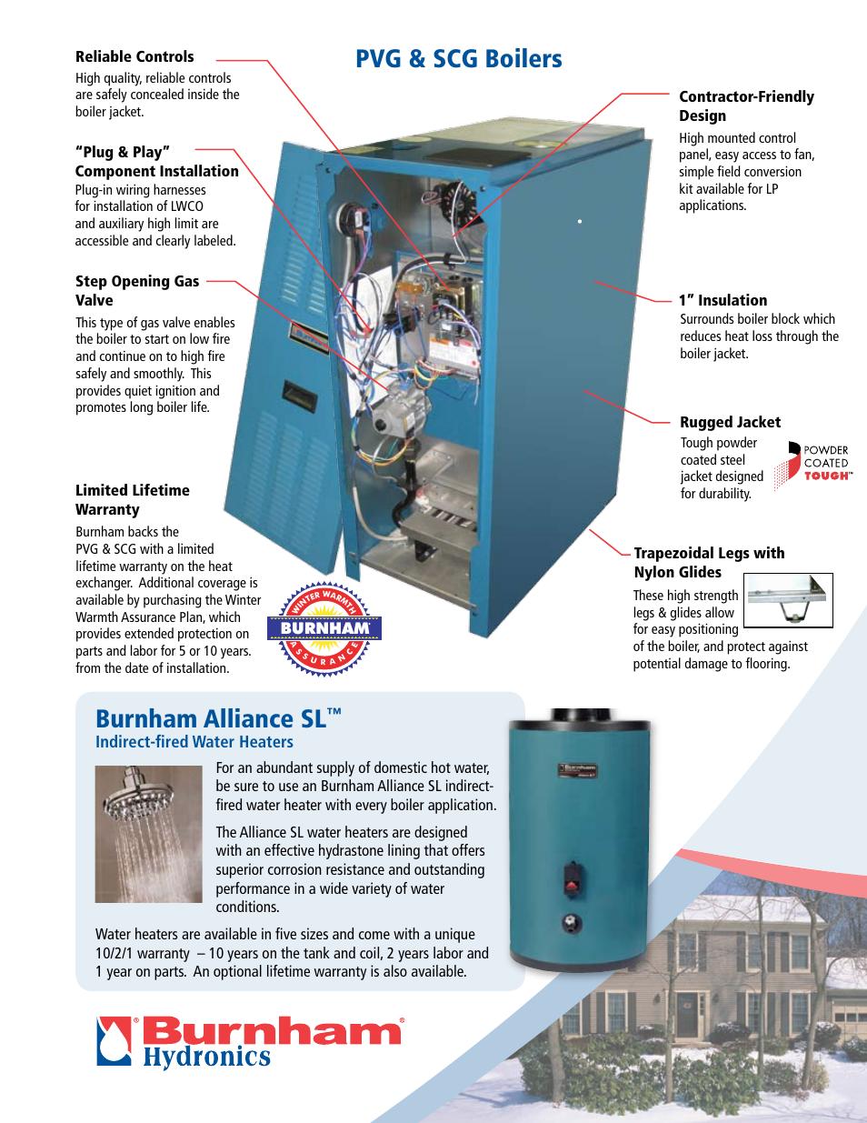 Pvg & scg boilers burnham alliance sl, Indirect-fired water heaters ...