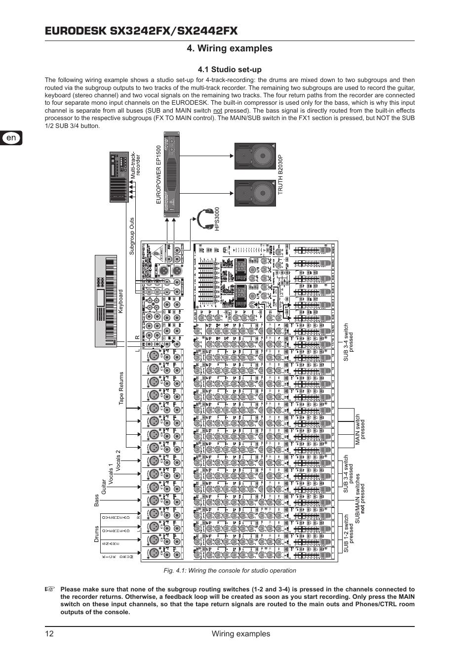 behringer-eurodesk-sx2442fx-page12  Sub Wiring Diagram on subwoofer diagram, radio diagram, dual voice coil speaker diagram, sub flooring diagram, sub control diagram, power diagram, amp diagram, sub assembly diagram, sub pump diagram, sub controller diagram,