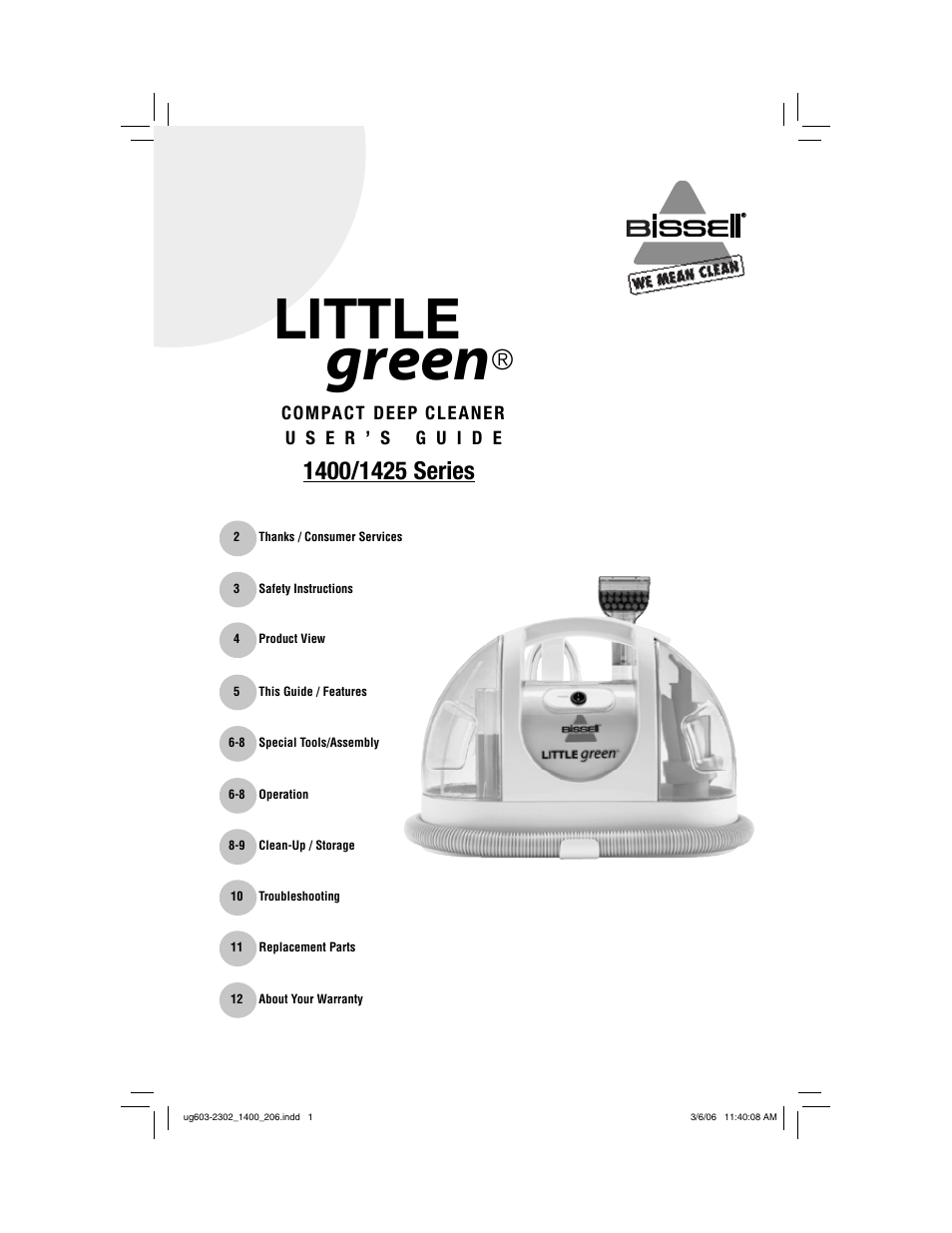 Download Bissell Little Green 1400 Manual Manual Guide
