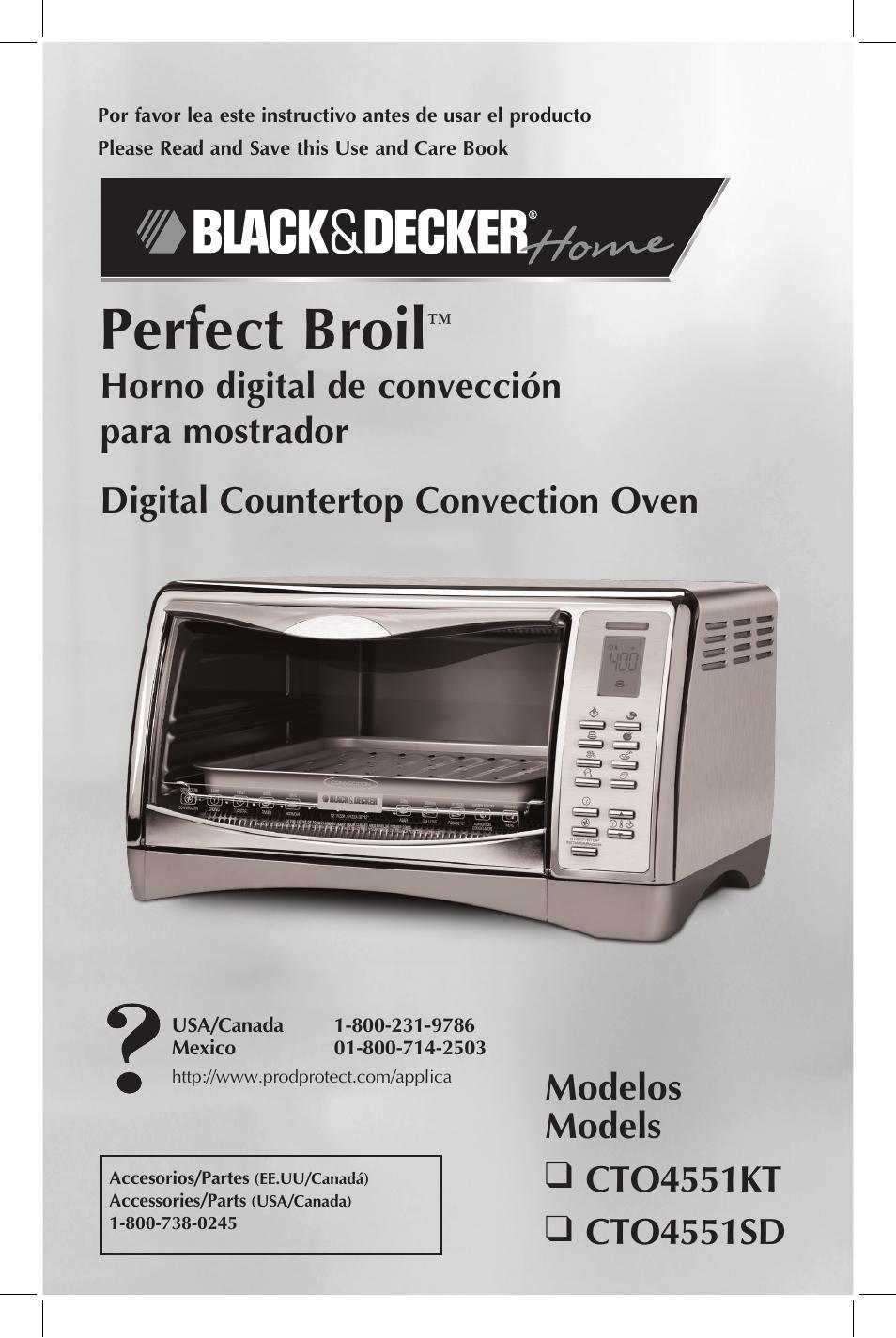 Black Amp Decker Perfect Broil Cto4551kt User Manual 23