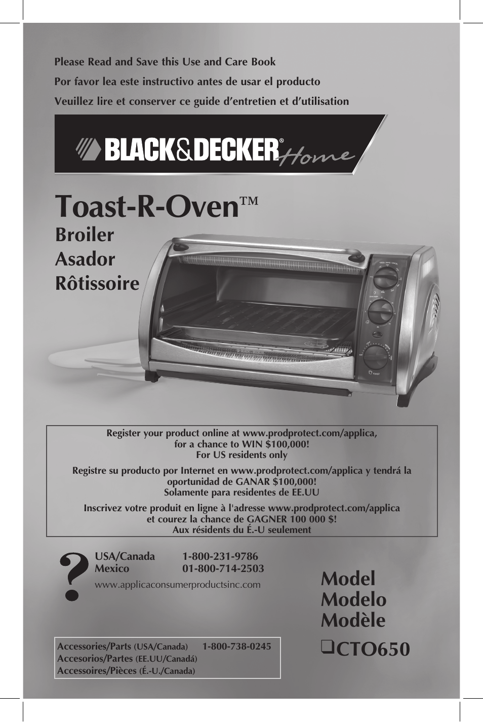 Black Amp Decker Cto650 User Manual 13 Pages