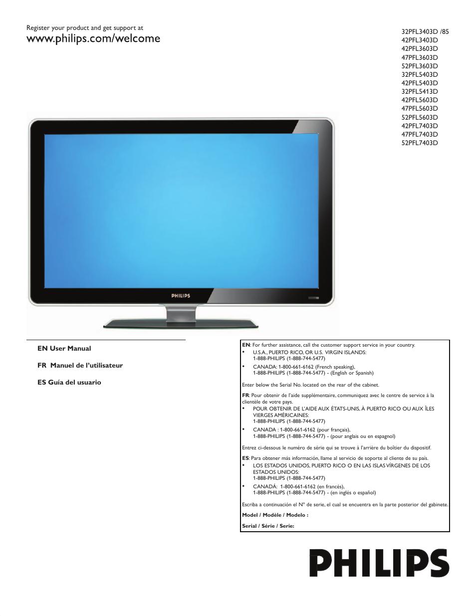 philips 42pfl5603d f7 user manual 44 pages original mode also rh manualsdir com