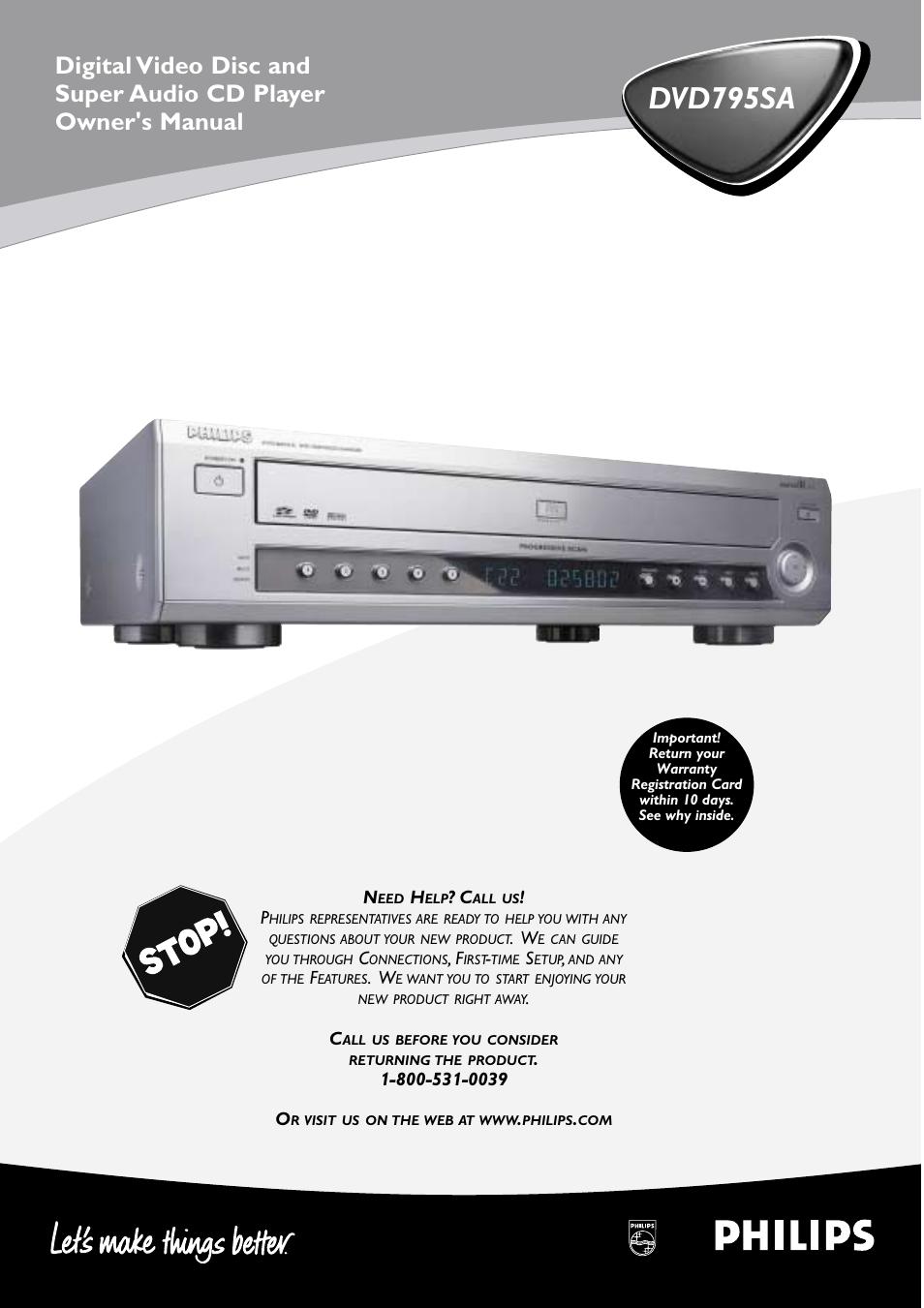 philips dvd795sa 99 user manual 55 pages rh manualsdir com RCA LED Disc Player Laser Video Disc Player