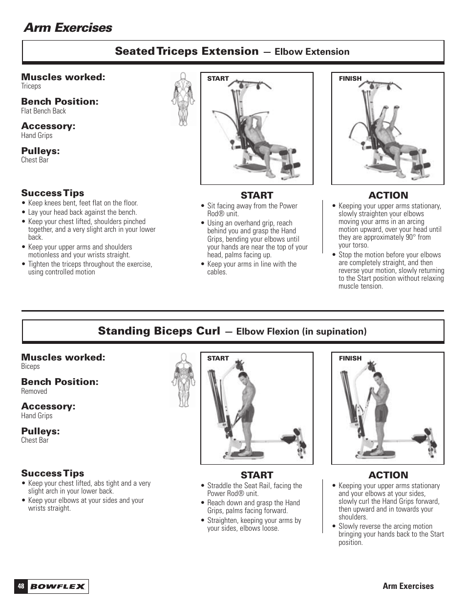 arm exercises standing biceps curl seated triceps extension rh manualsdir com bowflex motivator 2 manual to print for free Bowflex Motivator 2 Poster