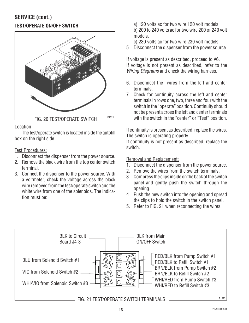 Wiring diagrams | Bunn AFPO-2 User Manual |