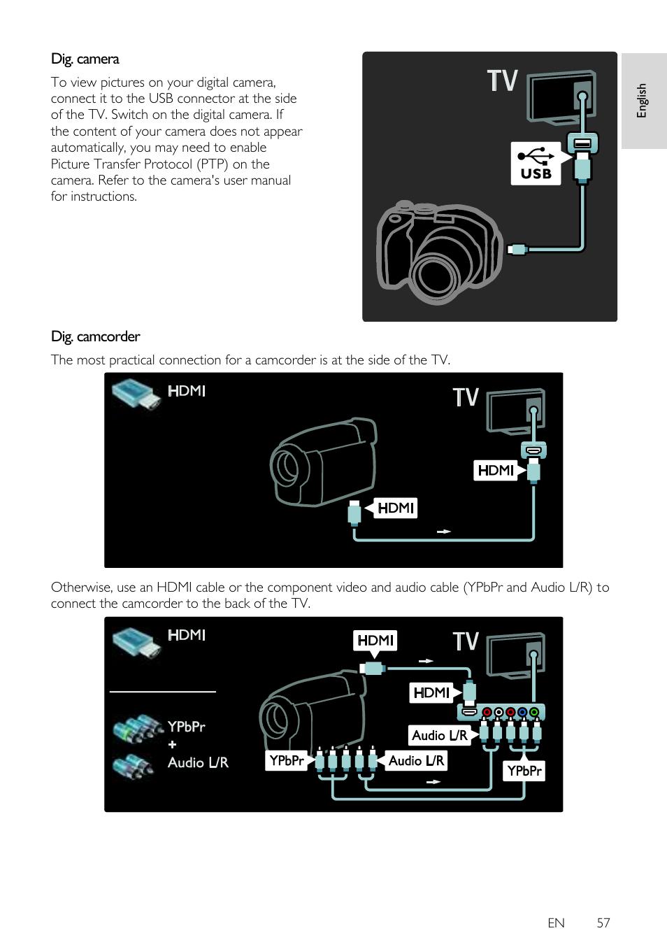 dig camera dig camcorder en 57 philips 42pfl7675h 12 user rh manualsdir com Philips Flat TV Manual Philips Universal Remote User Manual