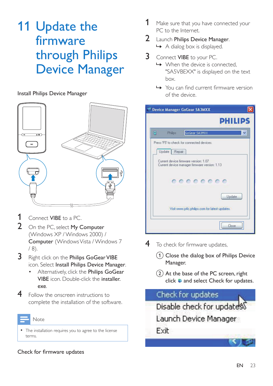 11 update the firmware through philips device manager philips rh manualsdir com GoGear Accessories GoGear Accessories