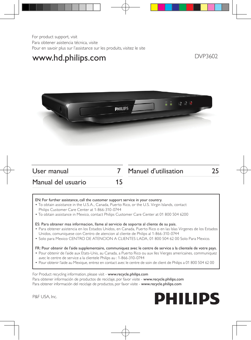 philips dvp3602 f7 user manual 16 pages original mode rh manualsdir com Philips User Guides Philips DVD Player Manual