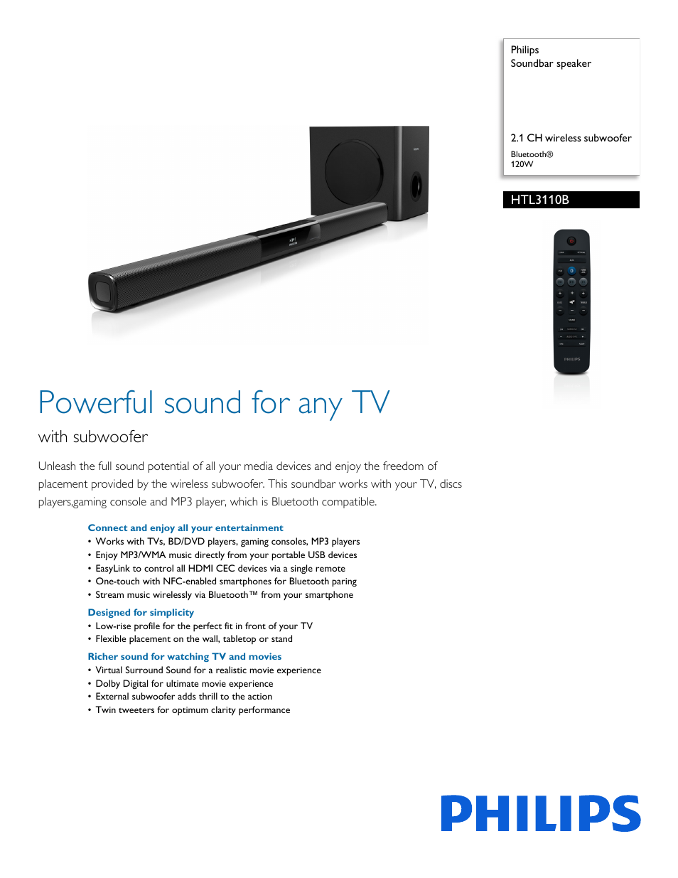 Hook up philips soundbar