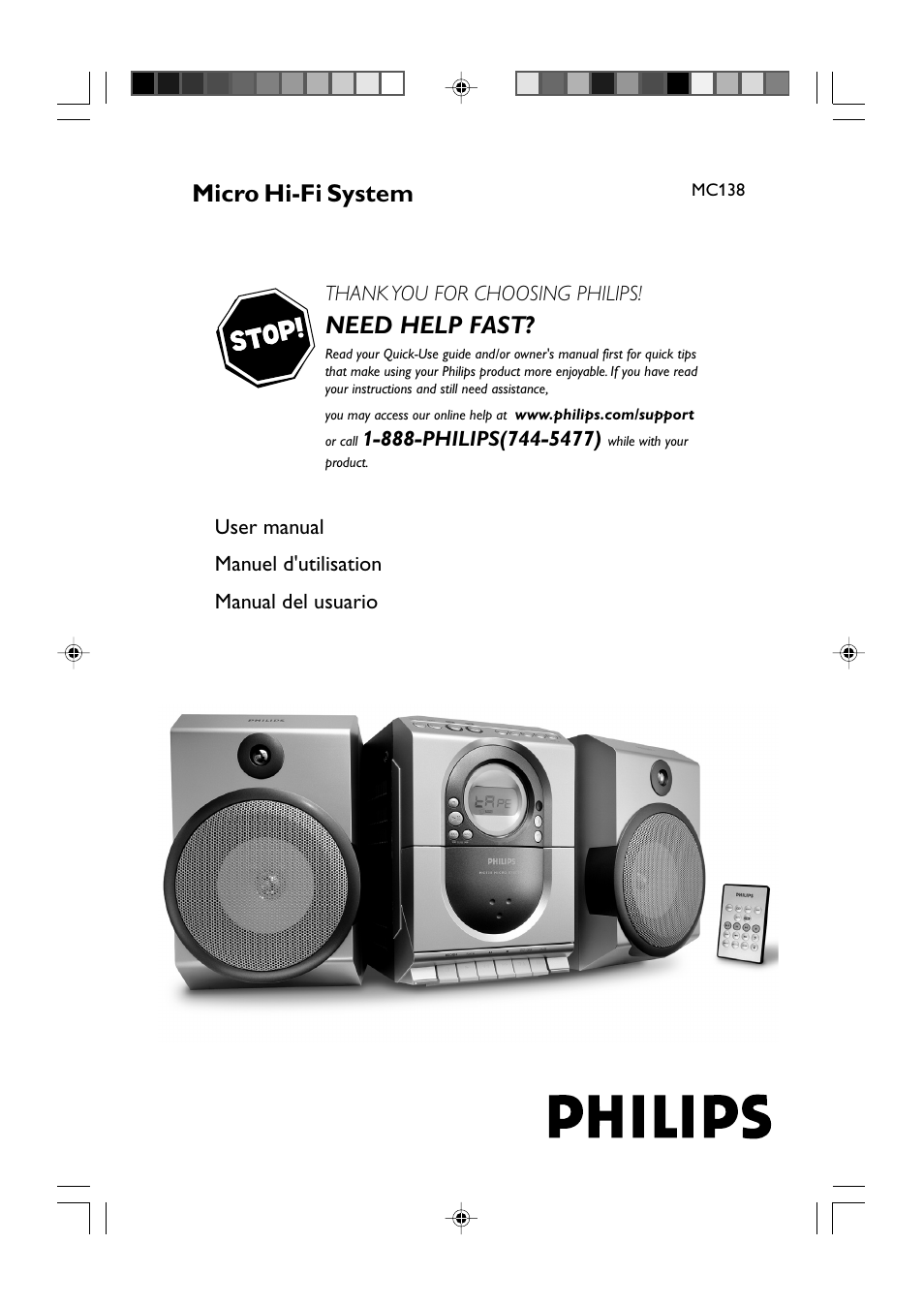philips mc138 37 user manual 23 pages also for mc138 37b rh manualsdir com Philips User Guides Speaker Bt7900 Philips Flat TV Manual