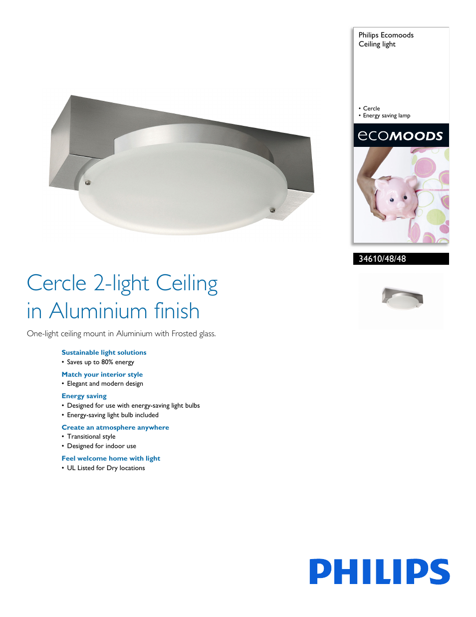 Philips forecast ecomoods ceiling light 34610 48 48 cercle energy philips forecast ecomoods ceiling light 34610 48 48 cercle energy saving lamp user manual 2 pages aloadofball