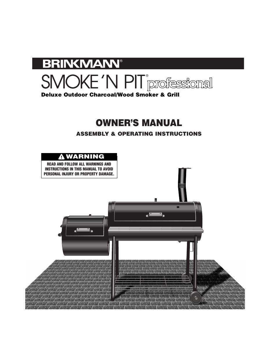 brinkmann smoke n pit how to use