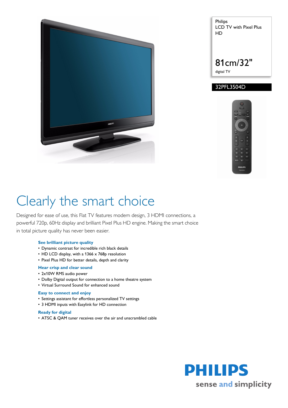 philips 32pfl3504d f7 user manual 3 pages rh manualsdir com Philips TV User Manual Asus User Manual