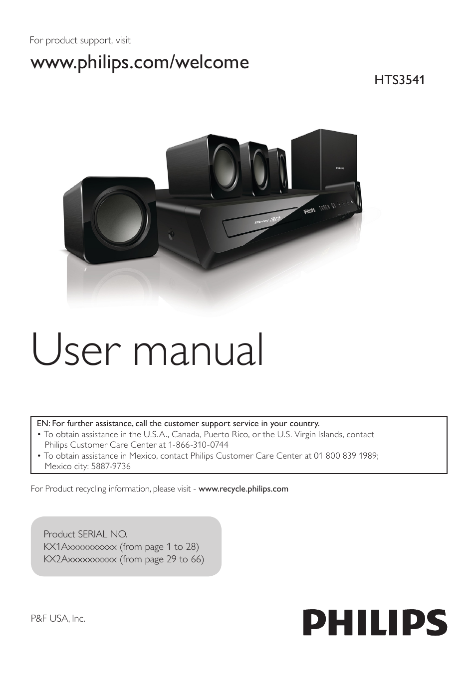 philips hts3541 f7 user manual 70 pages rh manualsdir com Philips Blu-ray DVD Player Surround Sound Philips Blu-ray Home Theater