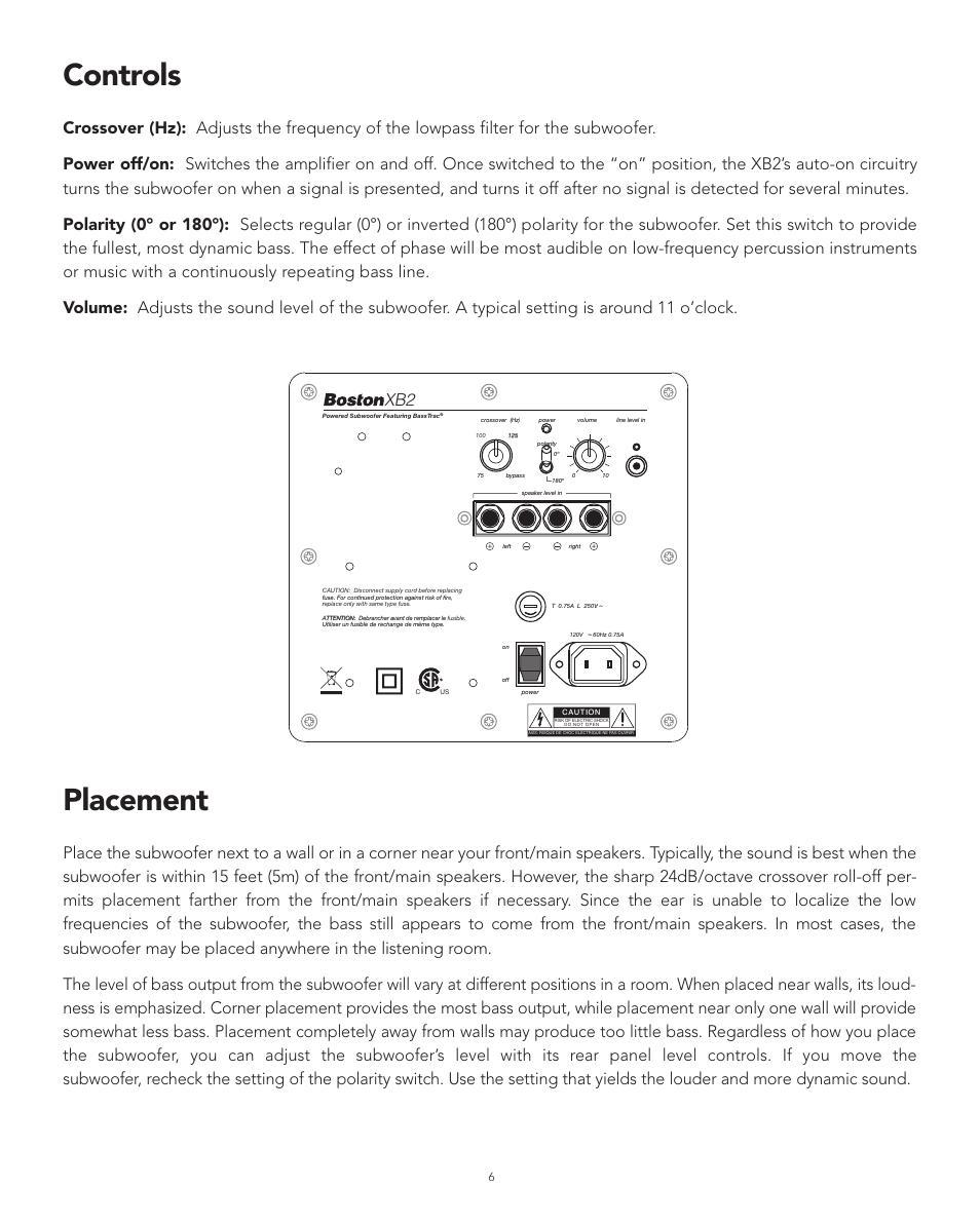 controls placement boston acoustics xb2 user manual page 6 24 rh manualsdir com Boston Acoustics Recepter Radio Boston Acoustics Clock Radio