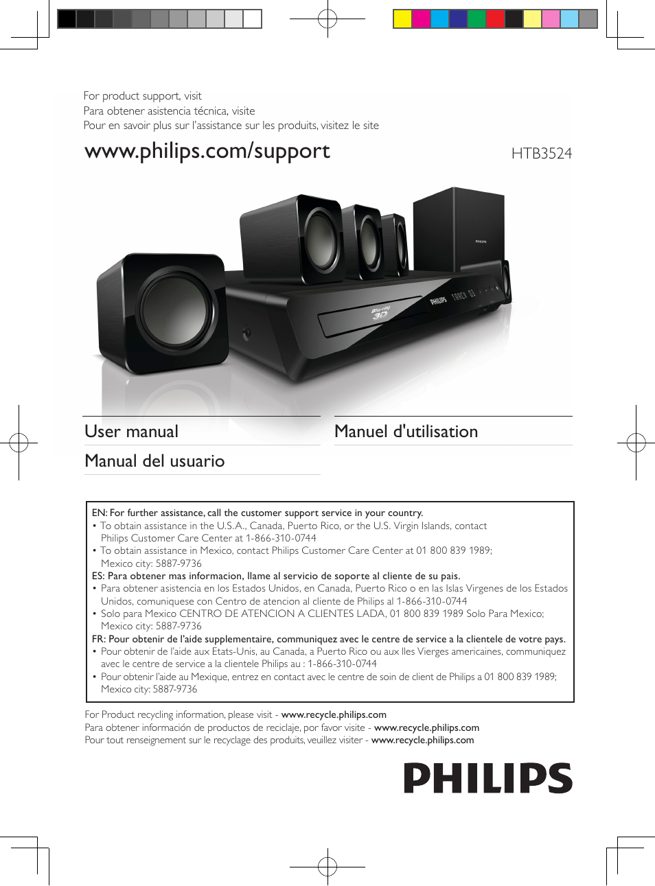 philips 5 1 home theater htb3524 3d blu ray wifi user manual 124 rh manualsdir com home theater philips hts3510 manual philips dvd home theater system hts3154 manual