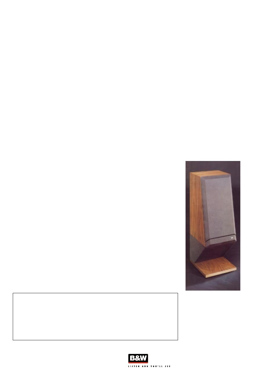 Bowers  U0026 Wilkins Dm16 User Manual