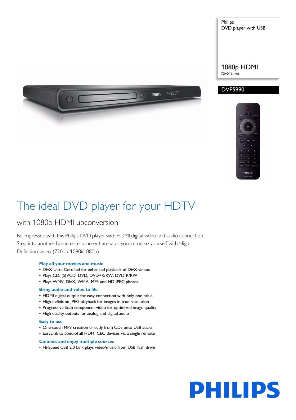 philips dvp5990 f7 user manual 3 pages also for dvp5990 f7b rh manualsdir com DVD Player Philips Dvp598 DVD Player Philips Dvp598