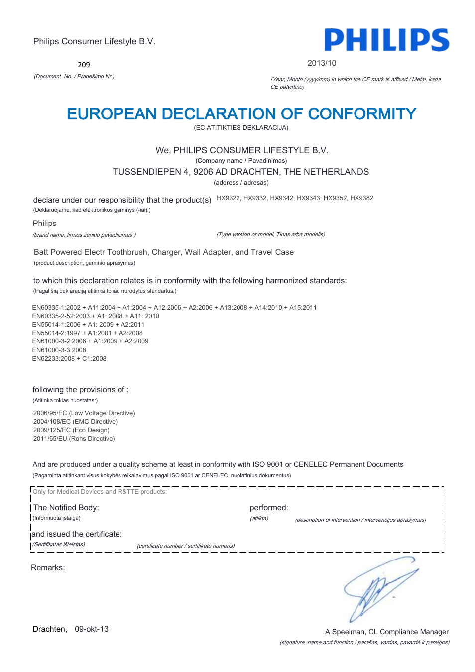 european declaration of conformity philips sonicare diamondclean rh manualsdir com philips sonicare owners manual sonicare diamondclean owners manual
