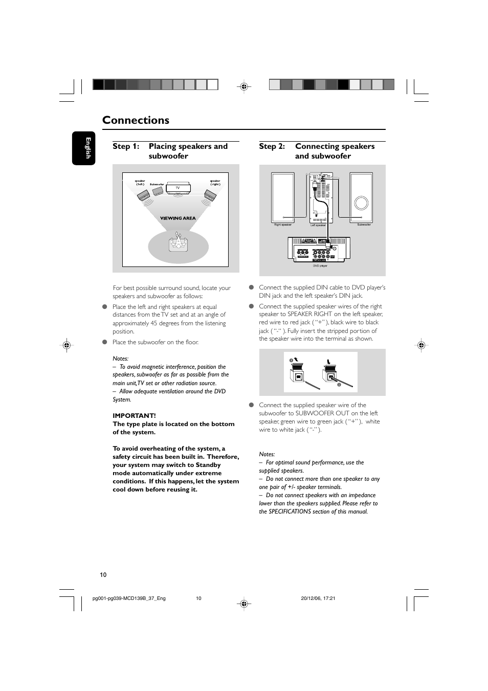 Connections Philips Dvd Micro Theater Mcd139b User Manual Page Surround Sound What To Expect When Wiring Your Home For The 21st 10 40