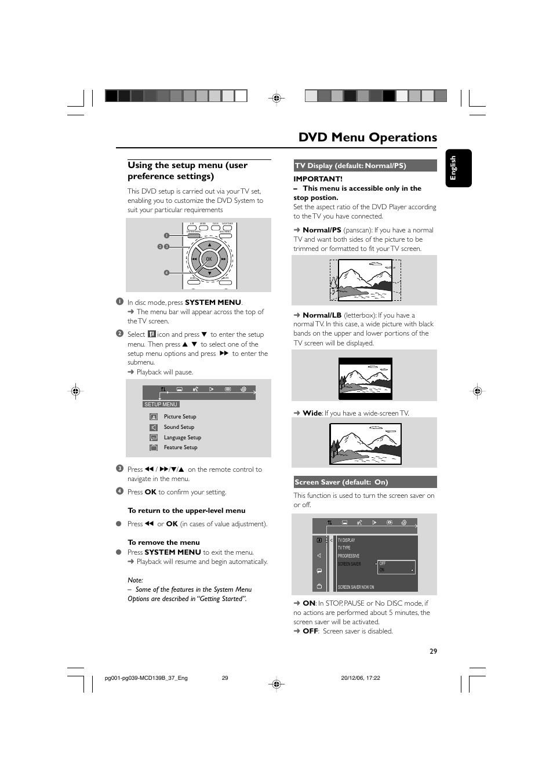 dvd menu operations using the setup menu user preference settings rh manualsdir com philips dvd755vr user manual philips dvd755vr user manual