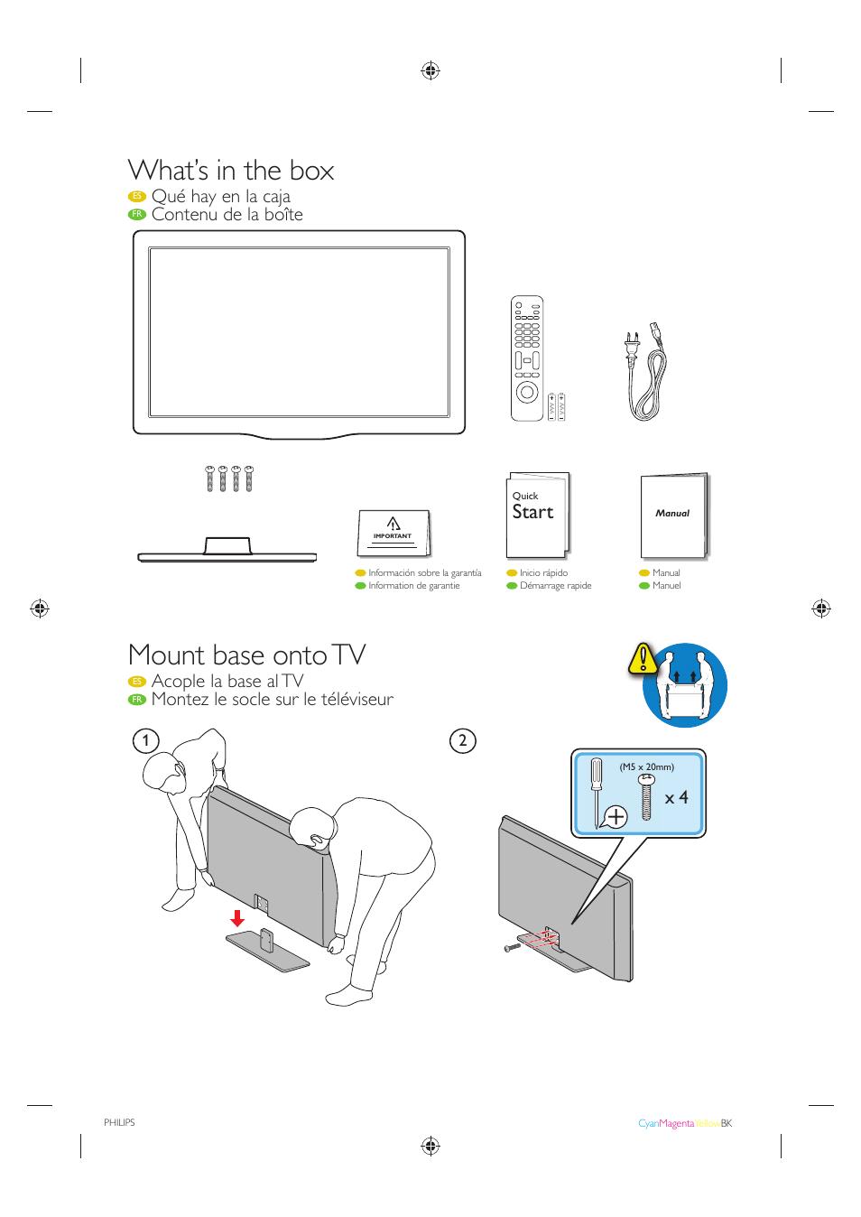 what s in the box mount base onto tv start philips 40pfl4707 f7 rh manualsdir com TV Philips Modelo Pb7019 Philips Smart TV 32