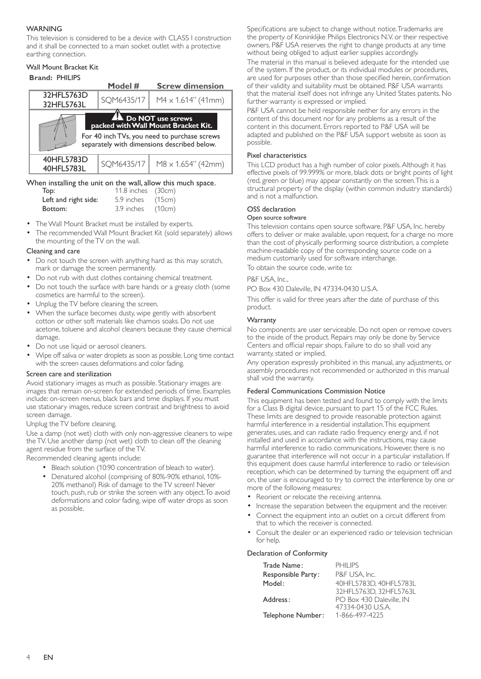 Philips 32HFL5763D-F7 User Manual | Page 4 / 12 | Original mode