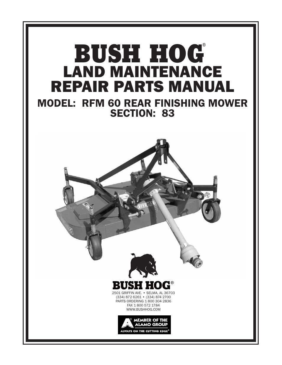 Bush Hog Mower Parts