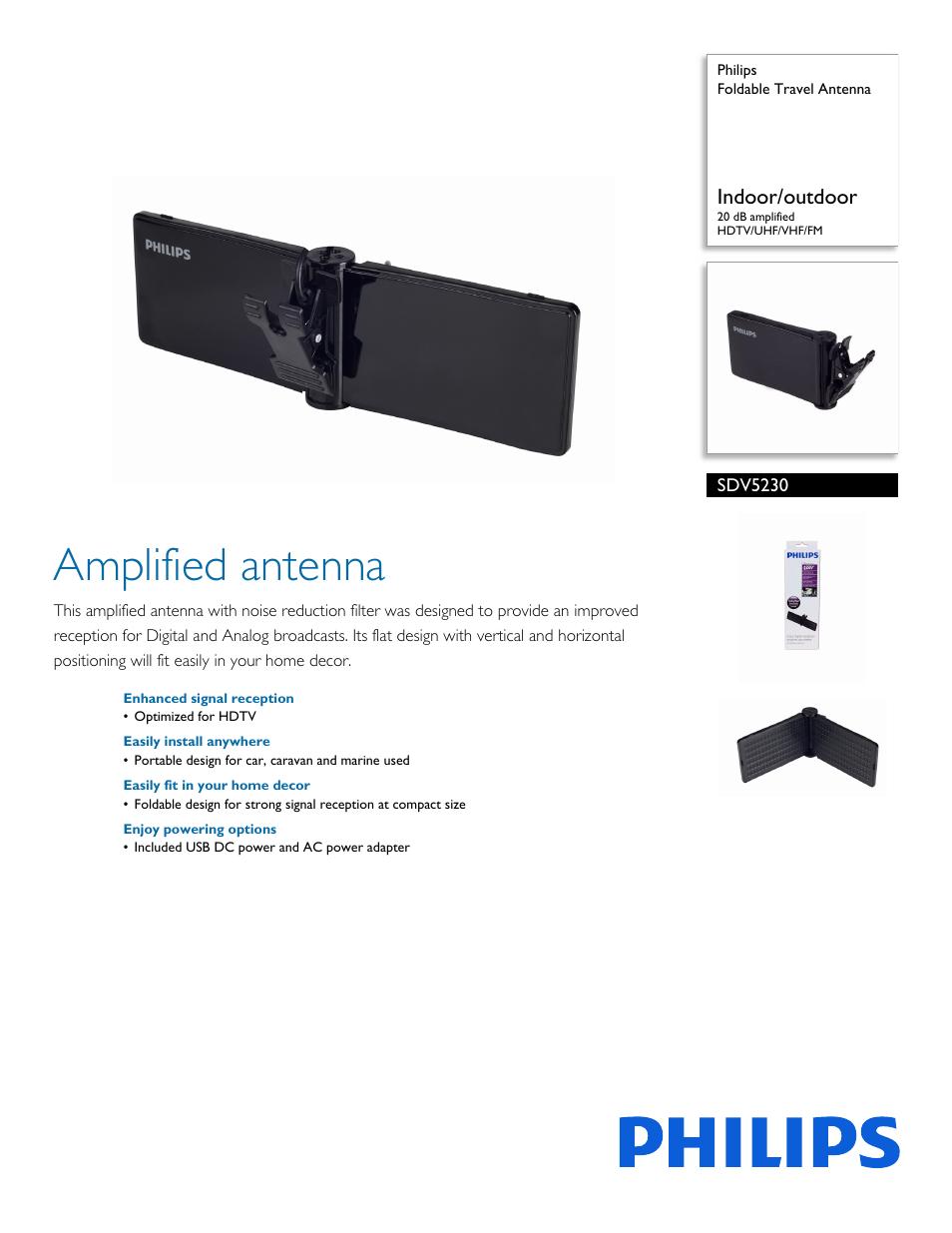 philips sdv5230 27 user manual 2 pages rh manualsdir com philips hdtv antenna mant940 manual Best HD Antenna