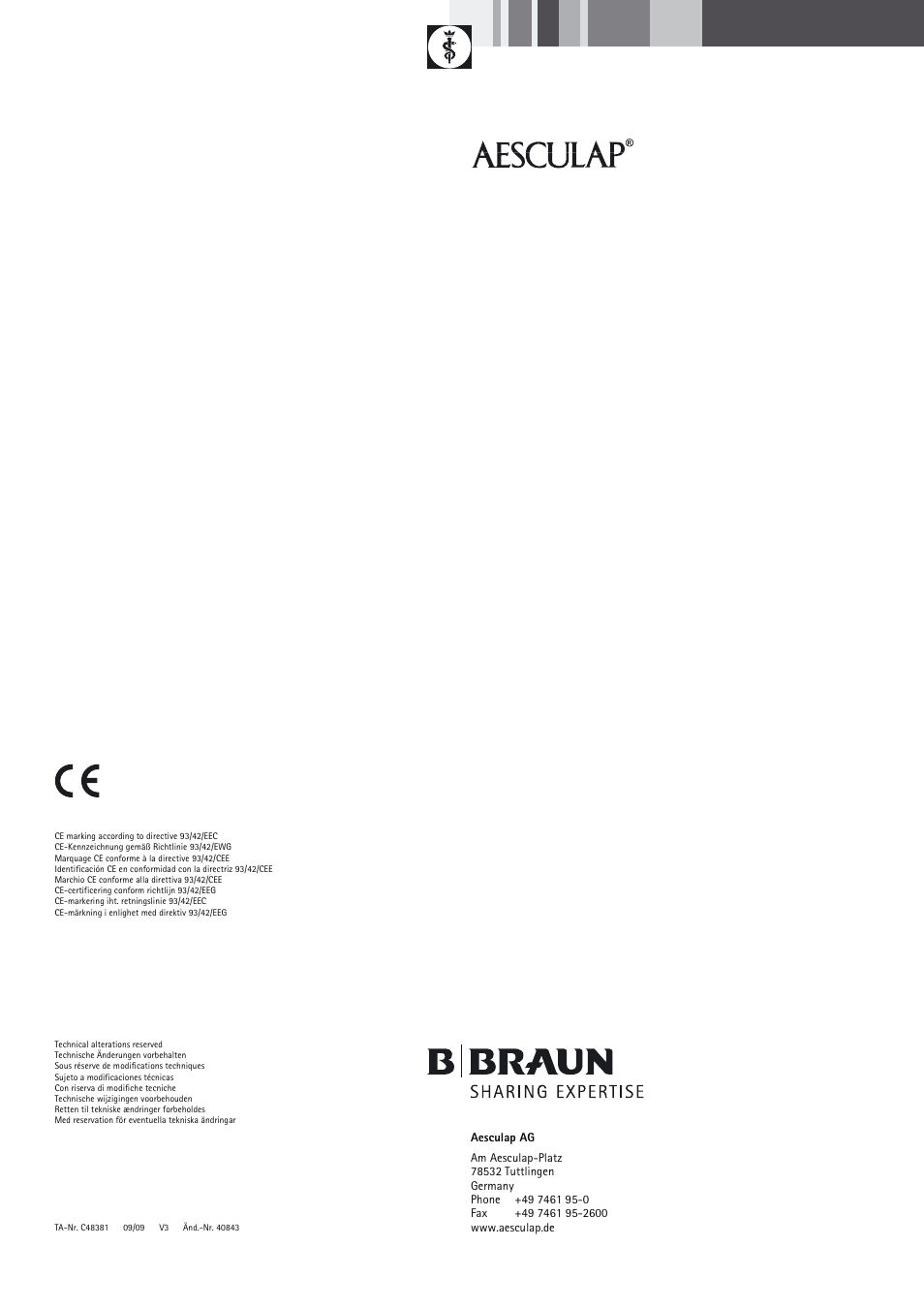 Braun Sterile Container System 9-Jul User Manual | Page 84 / 84