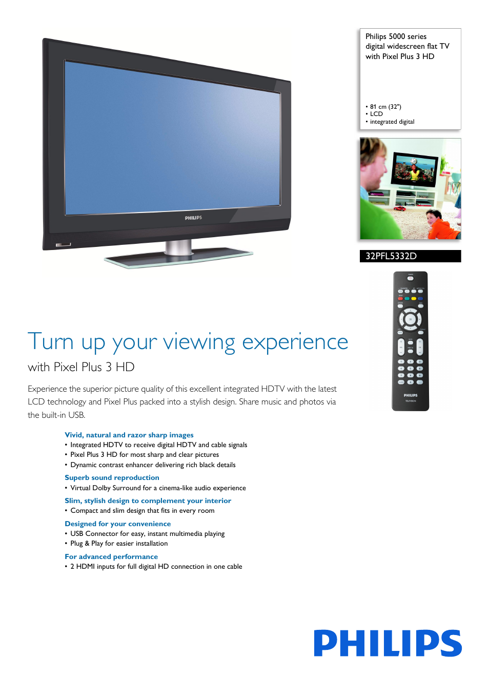 philips 32pfl5332d 37 user manual 3 pages rh manualsdir com Vizio TV Manual Samsung Rear Projection TV Manual