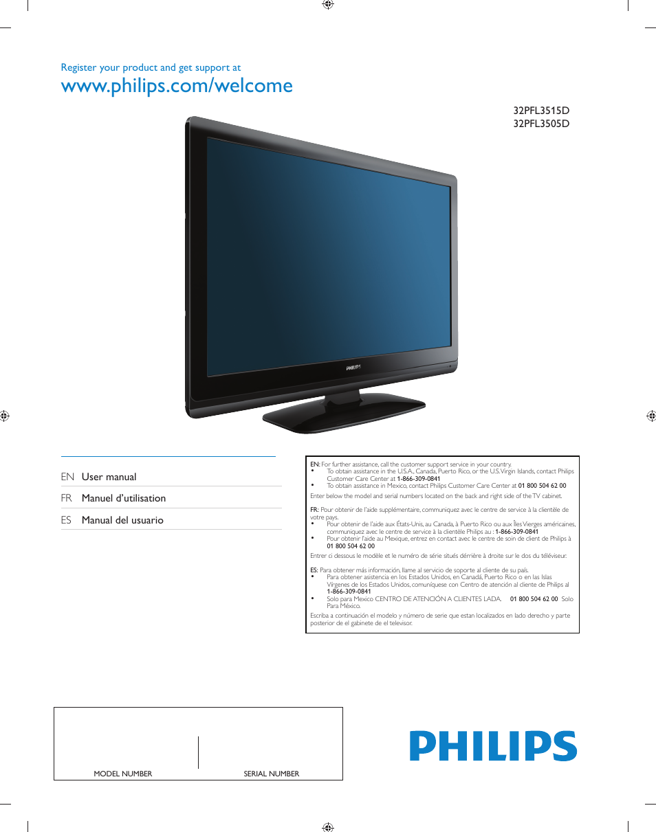 philips 32pfl3505d f7 user manual 34 pages rh manualsdir com Philips TV Parts philips tv owners manual