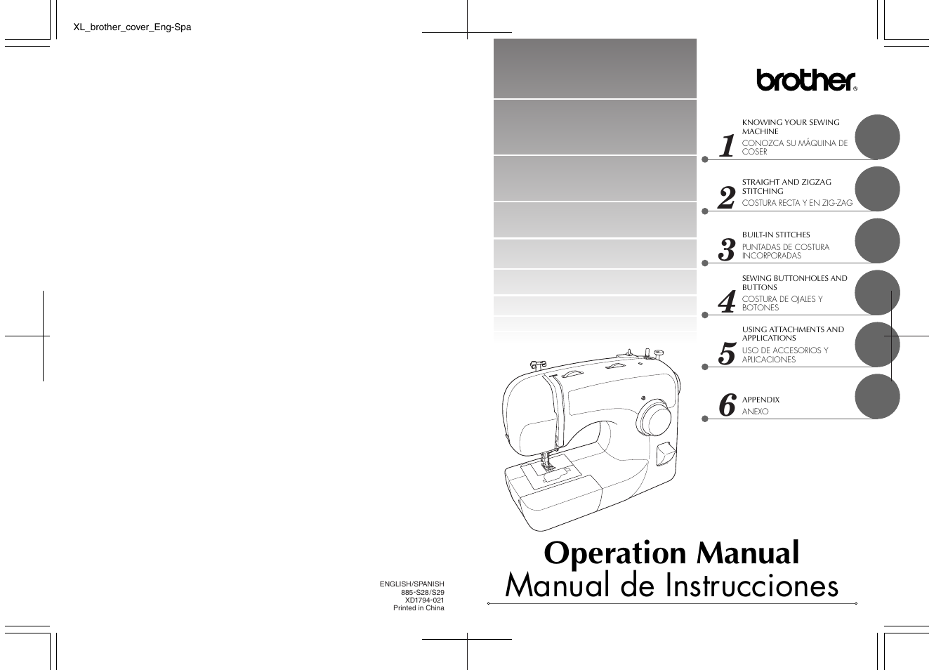 Brother BM-3600 User Manual   82 pages   Also for: XL-3750, BM-2700, LS-590