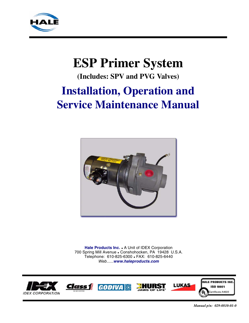 Hale Esp Priming System User Manual 70 Pages Wiring Diagram