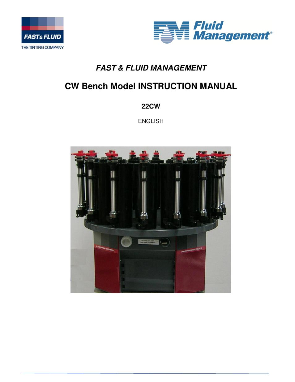 fluid management 22cw blendorama user manual