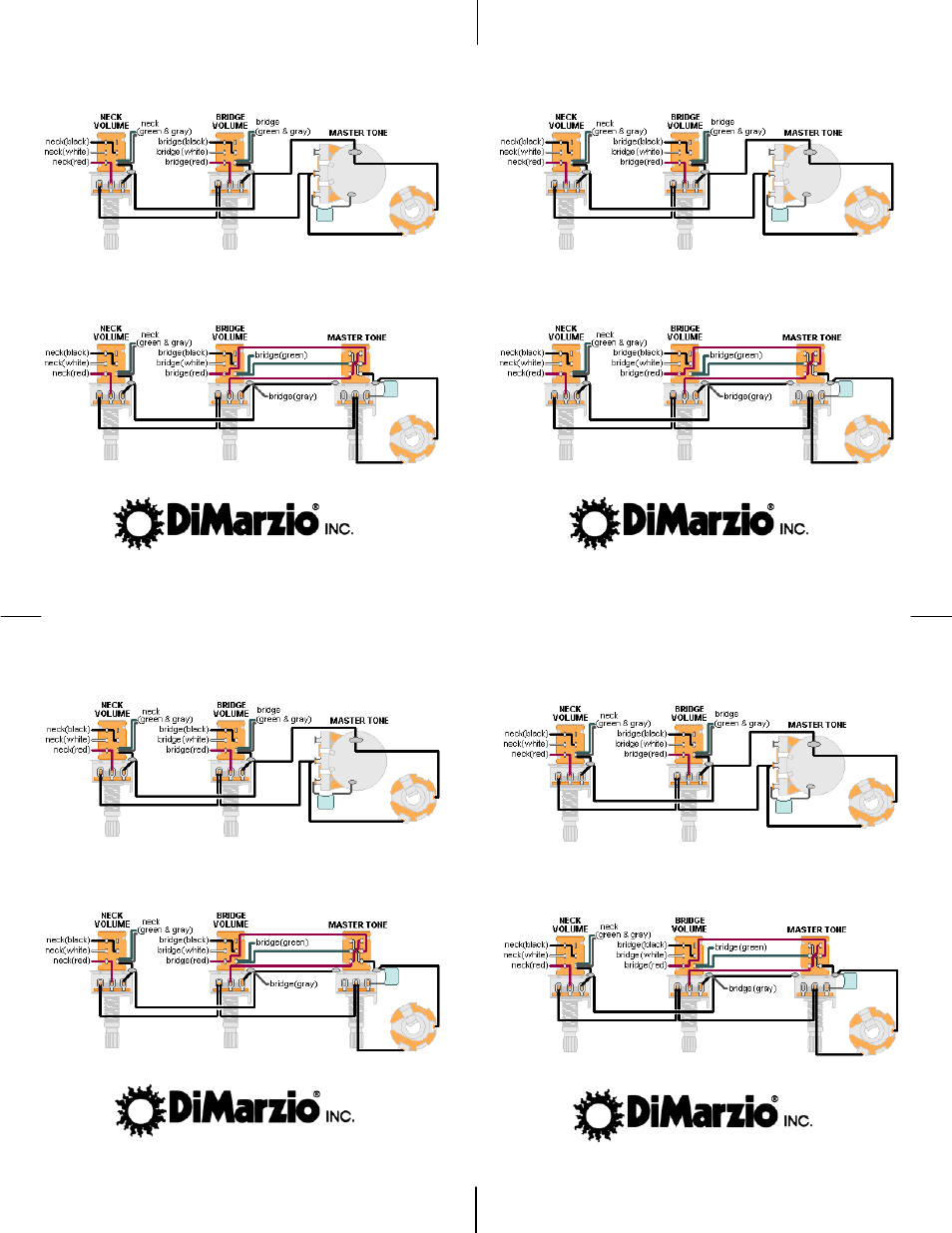 Dimarzio Dp120 Wiring Diagram