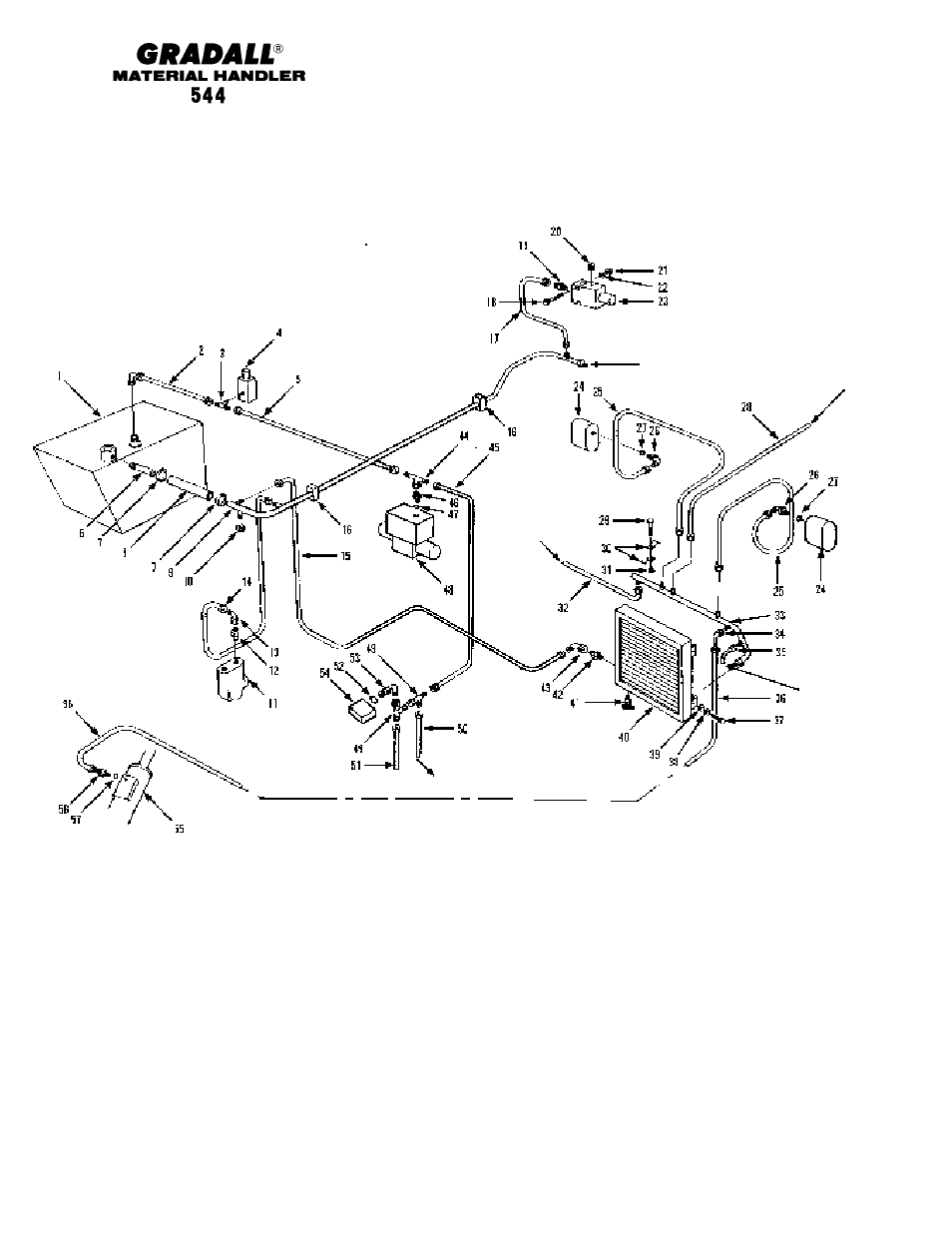 Hydraulic Circuits Dump Circuit Gradall 544 User Manual Page 113 System Diagram Serial Numbers 209
