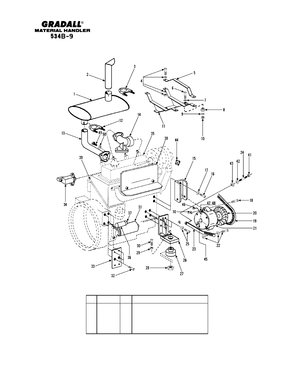 Section 5 engine & attaching parts | Gradall 534B-9 Parts Manual User Manual  | Page 50 / 192