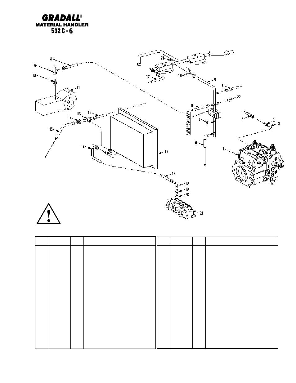 Hydraulic Circuits Dump Circuit 532c 6 Gradall 534c Parts System Diagram Serial Numbers Manual User Page 167 380